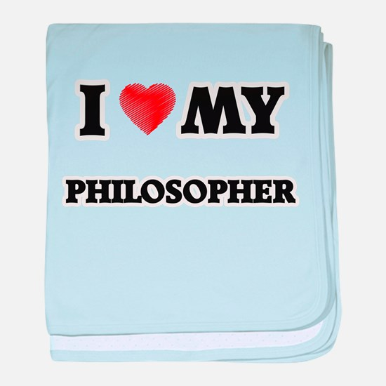I love my Philosopher baby blanket