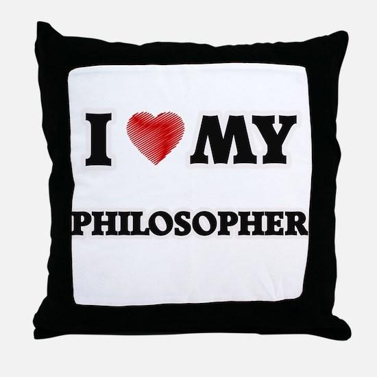 I love my Philosopher Throw Pillow