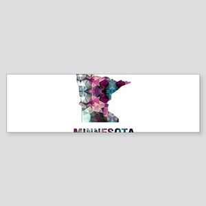 Mosaic Map MINNESOTA Bumper Sticker