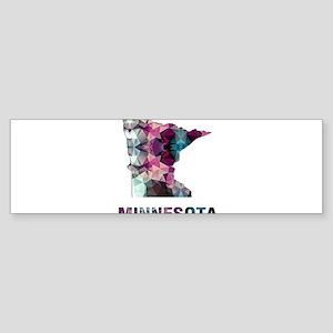 Mosaic Map MINNESOTA Bumper Sticker