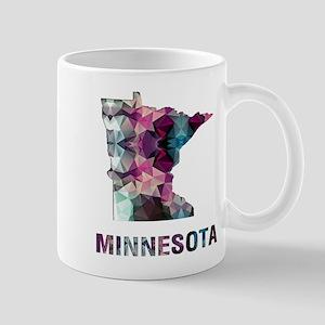 Mosaic Map MINNESOTA Mugs