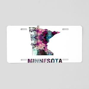 Mosaic Map MINNESOTA Aluminum License Plate