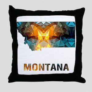 Mosaic Map MONTANA Throw Pillow