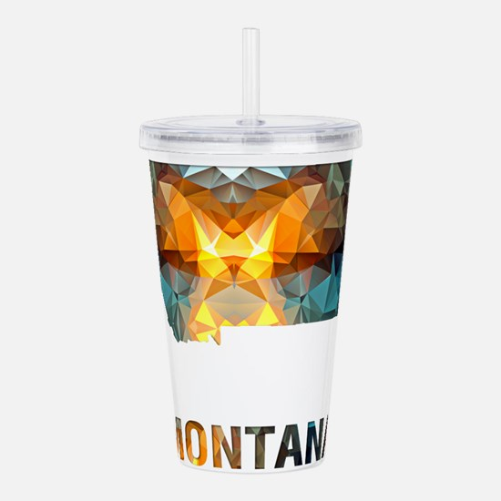 Mosaic Map MONTANA Acrylic Double-wall Tumbler