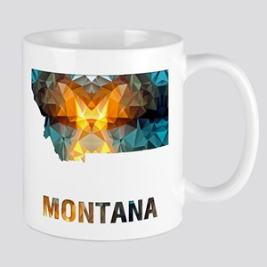 Mosaic Map MONTANA Mugs