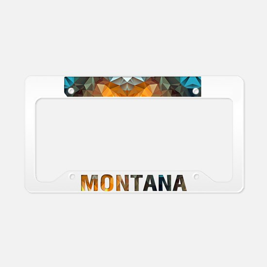 Mosaic Map MONTANA License Plate Holder