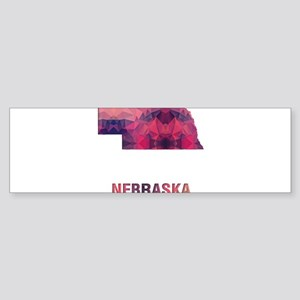 Mosaic Map NEBRASKA Bumper Sticker