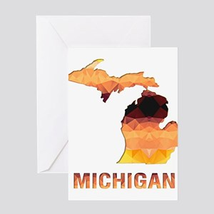Michigan outline greeting cards cafepress mosaic map michigan greeting cards m4hsunfo
