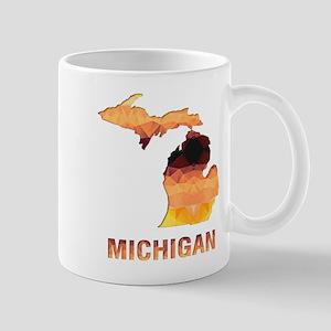 Mosaic Map MICHIGAN Mugs
