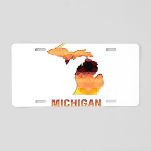 Mosaic Map MICHIGAN Aluminum License Plate