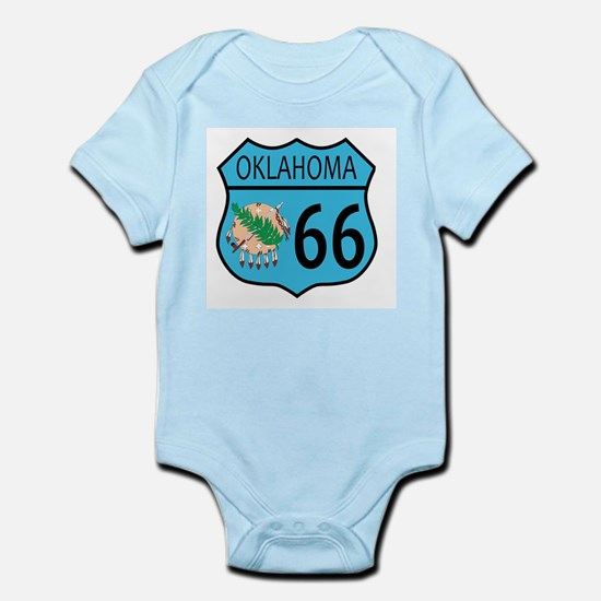 Route 66 Oklahoma sign and Flag Body Suit