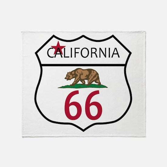 Route 66 California Throw Blanket