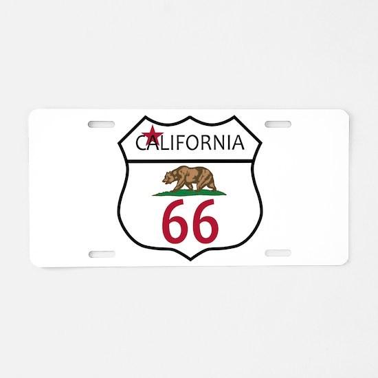 Route 66 California Aluminum License Plate