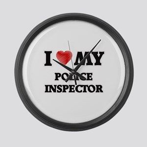 I love my Police Inspector Large Wall Clock