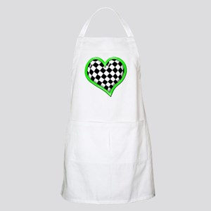Green Racing Heart BBQ Apron