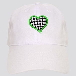 Green Racing Heart Cap