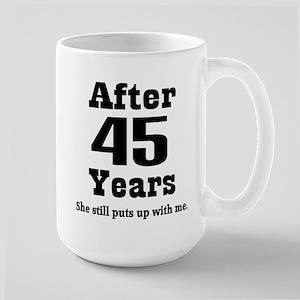45th Anniversary Funny Quote Mugs