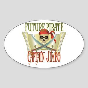 Captain Jimbo Oval Sticker