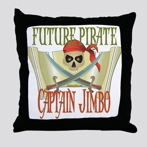 Captain Jimbo Throw Pillow