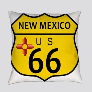 Route 66 New Mexico Flag Everyday Pillow