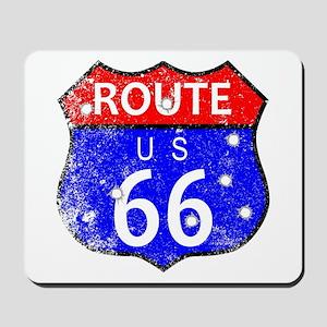 Route 66 Bullet Holes Mousepad