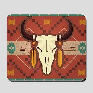 Western Cow Skull Mousepad
