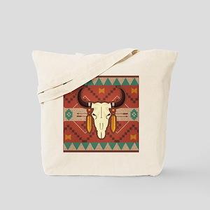Western Cow Skull Tote Bag