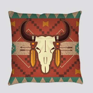 Western Cow Skull Everyday Pillow