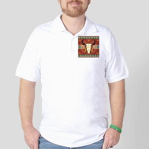 Western Cow Skull Golf Shirt