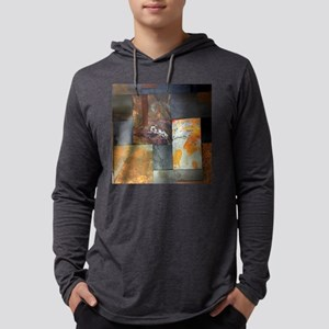 contemporary rusted metal stea Long Sleeve T-Shirt