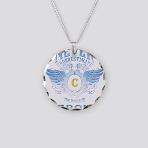 Never Underestimate The Powe Necklace Circle Charm