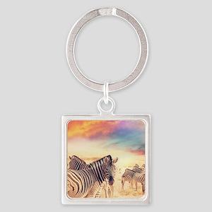 Beautiful Zebras Keychains