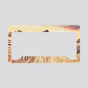 Beautiful Zebras License Plate Holder