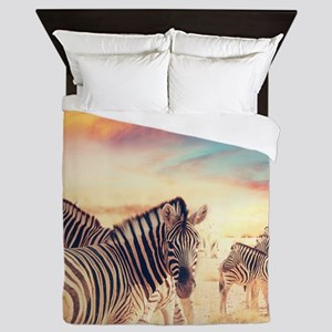 Beautiful Zebras Queen Duvet