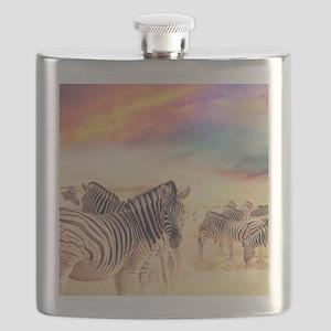 Beautiful Zebras Flask
