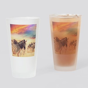 Beautiful Zebras Drinking Glass