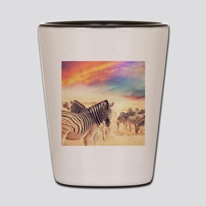 Beautiful Zebras Shot Glass