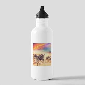 Beautiful Zebras Water Bottle
