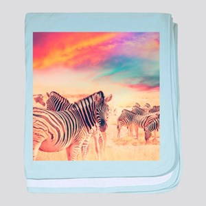 Beautiful Zebras baby blanket