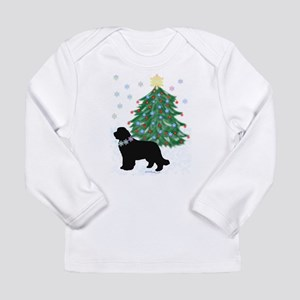 Yuletide Newf! Long Sleeve T-Shirt