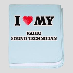 I love my Radio Sound Technician baby blanket