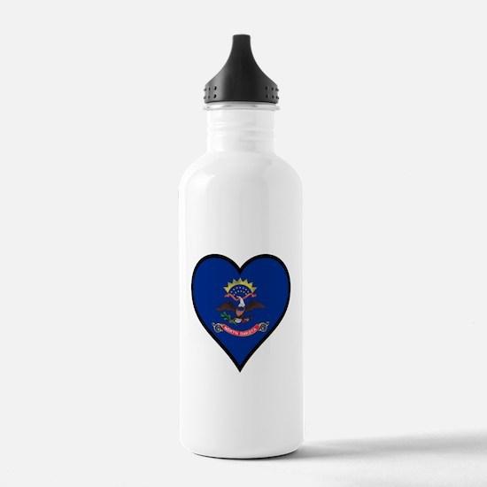 Love North Dakota Water Bottle