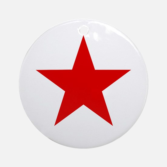 Cute Red star Round Ornament