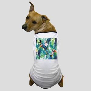 Colorful Parrots Dog T-Shirt
