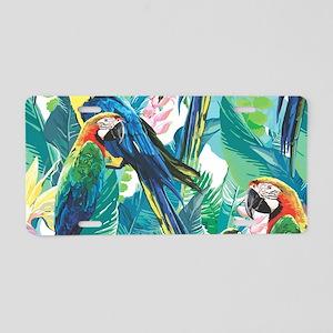 Colorful Parrots Aluminum License Plate