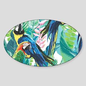 Colorful Parrots Sticker