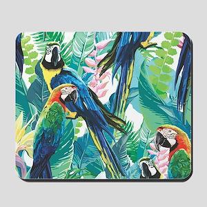 Colorful Parrots Mousepad