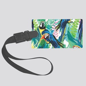 Colorful Parrots Luggage Tag