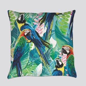 Colorful Parrots Everyday Pillow