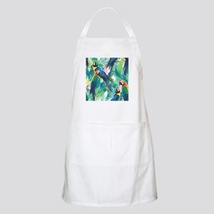 Colorful Parrots Apron